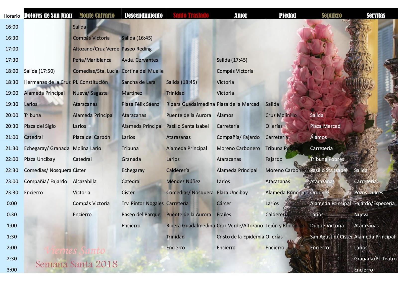 Programa de mano nazarenodpasion horarios e itinerarios for Horario oficina correos malaga