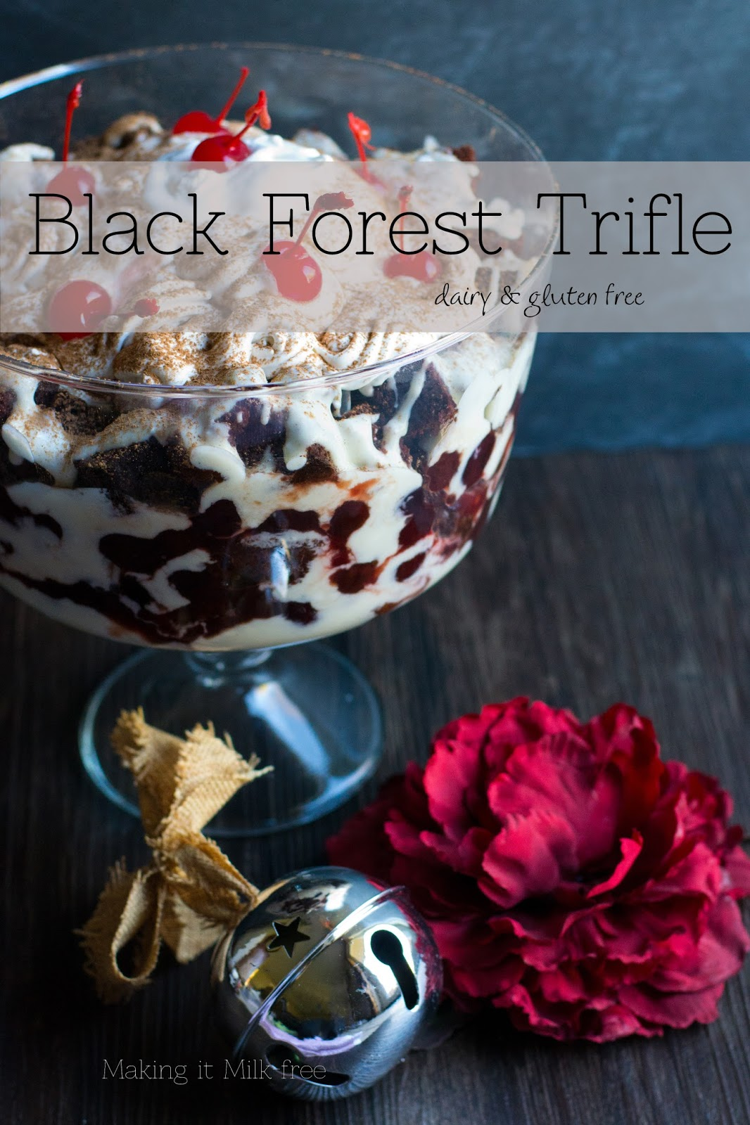 #chocolate #cherry #trifle #dairyfree #glutenfree #dessert #silk #yogurt
