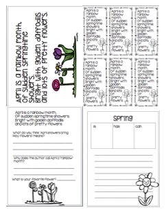 1st Grade Hip Hip Hooray!: April Poems and Activities!