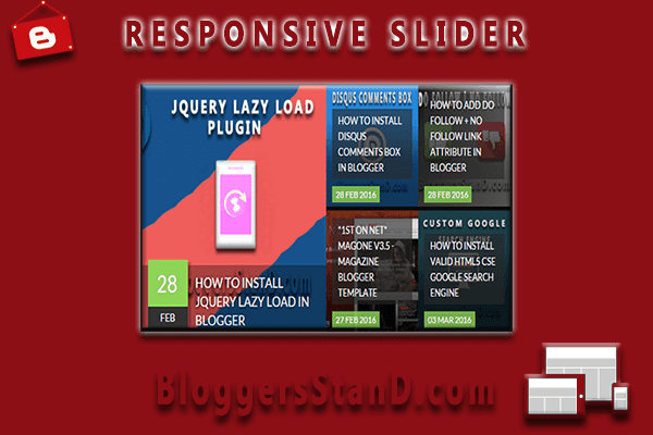 How to Add responsive posts sliding widget plugin in blogger template