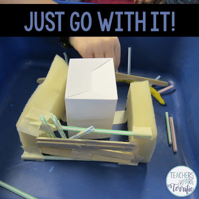 STEM Challenges are not cookie cutter projects! Kids try things that you know will not work, but you need to let it happen. Read more on this blog post about best practices!