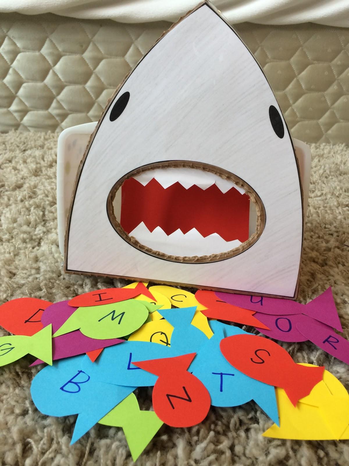 Letter S Feed The Shark Songs Handprint Art Spider