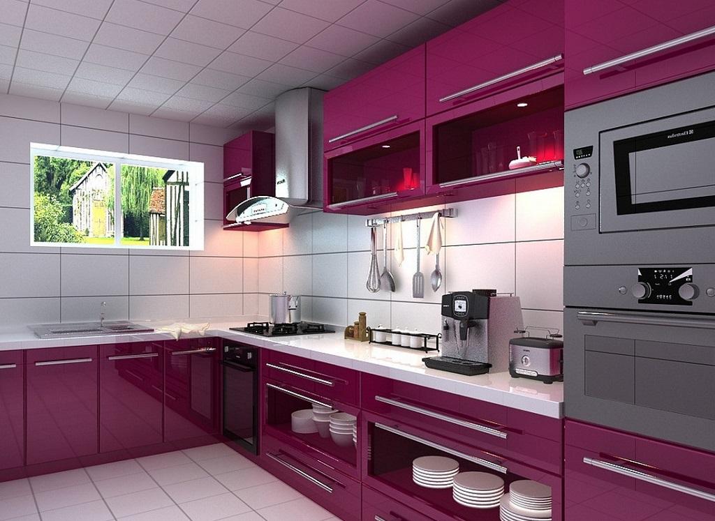 30 fotos cozinhas roxo e p rpura decora o e ideias - Corso interior design on line ...