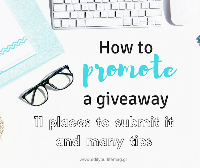How to promote a giveawy 11 places to submit it and many tips