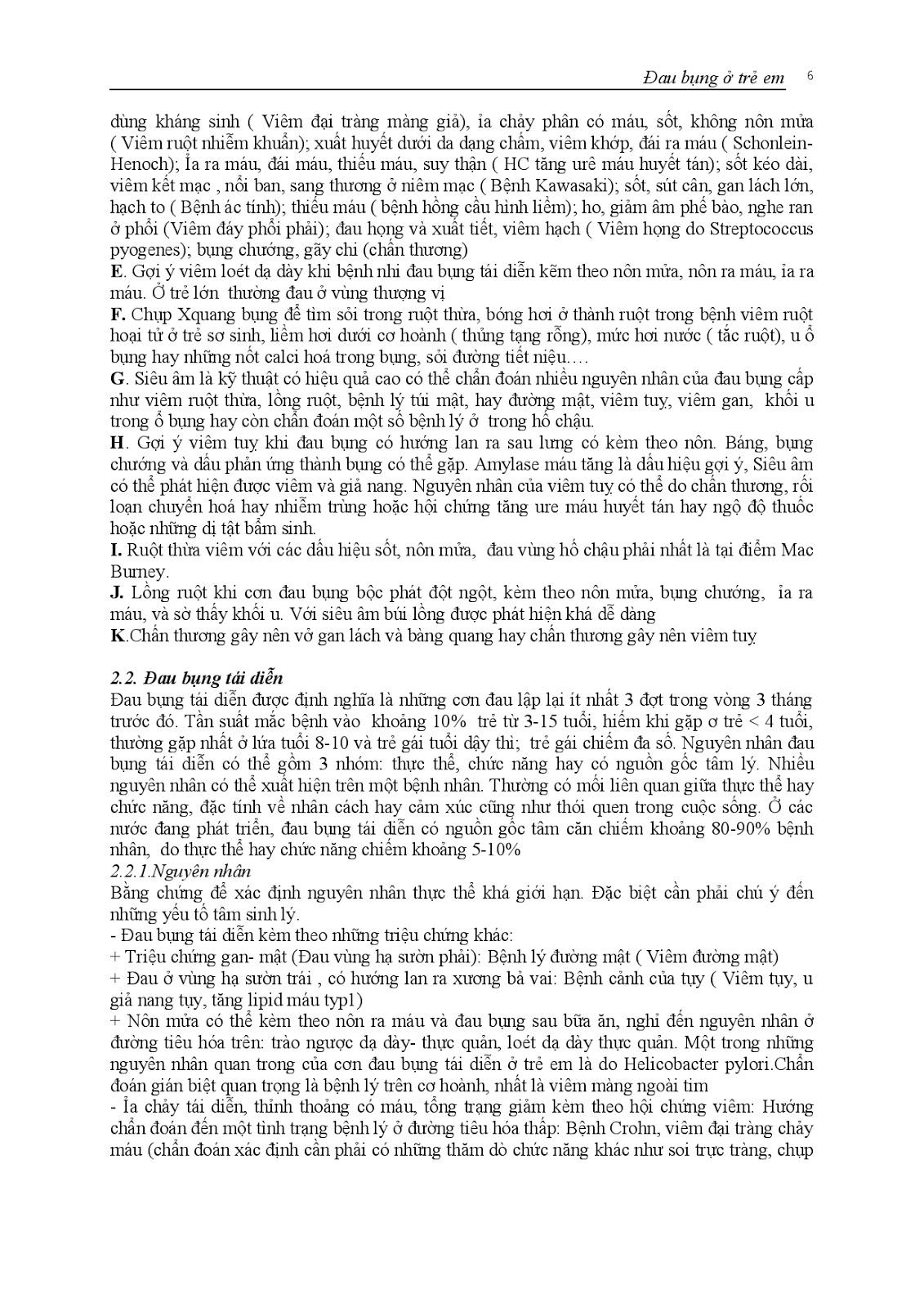 Trang 6 sach Bài giảng Nhi khoa II (Nhi hô hấp - Nhi tiêu hóa - Nhi lây) - ĐH Y Huế