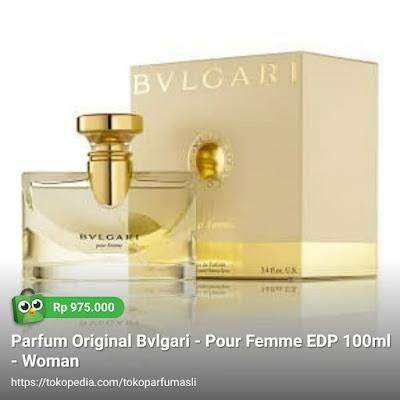 toko parfum asli parfum original bvlgari bulgari pour femme edp 100ml woman