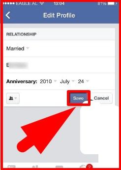 how to change relationship status on facebook mobile timeline