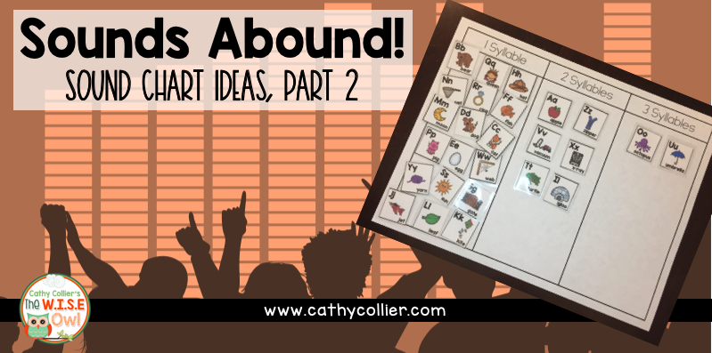 Sound Charts can be used in many ways in the classroom. This post describes how to use the sound chart for classroom games and also in a sorting center.