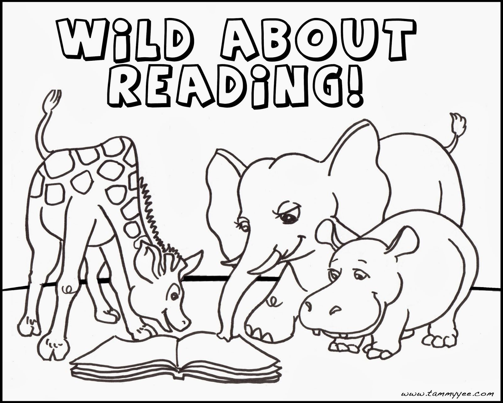 Wild About Books Coloring Pages | Coloring Pages