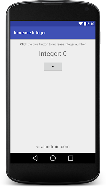 How to Increase the Integer Value When Button is Clicked in Android