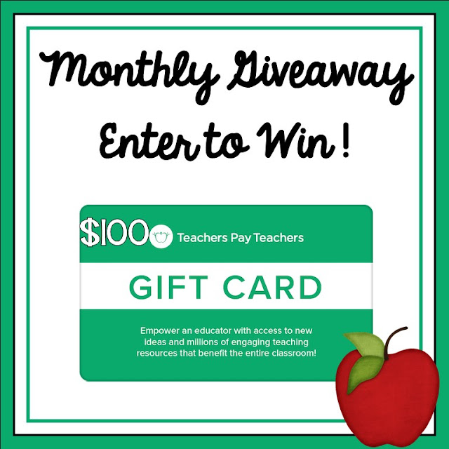 Teachers Giveaway - $100 Teachers pay Teachers gift card giveaway An Apple for the Teacher