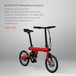 Xiaomi Smart Electric Foldable Bike, electric bike, foldable bike