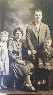 Estelle, Agnes, Alexander,  and Alexander Jr. Lach