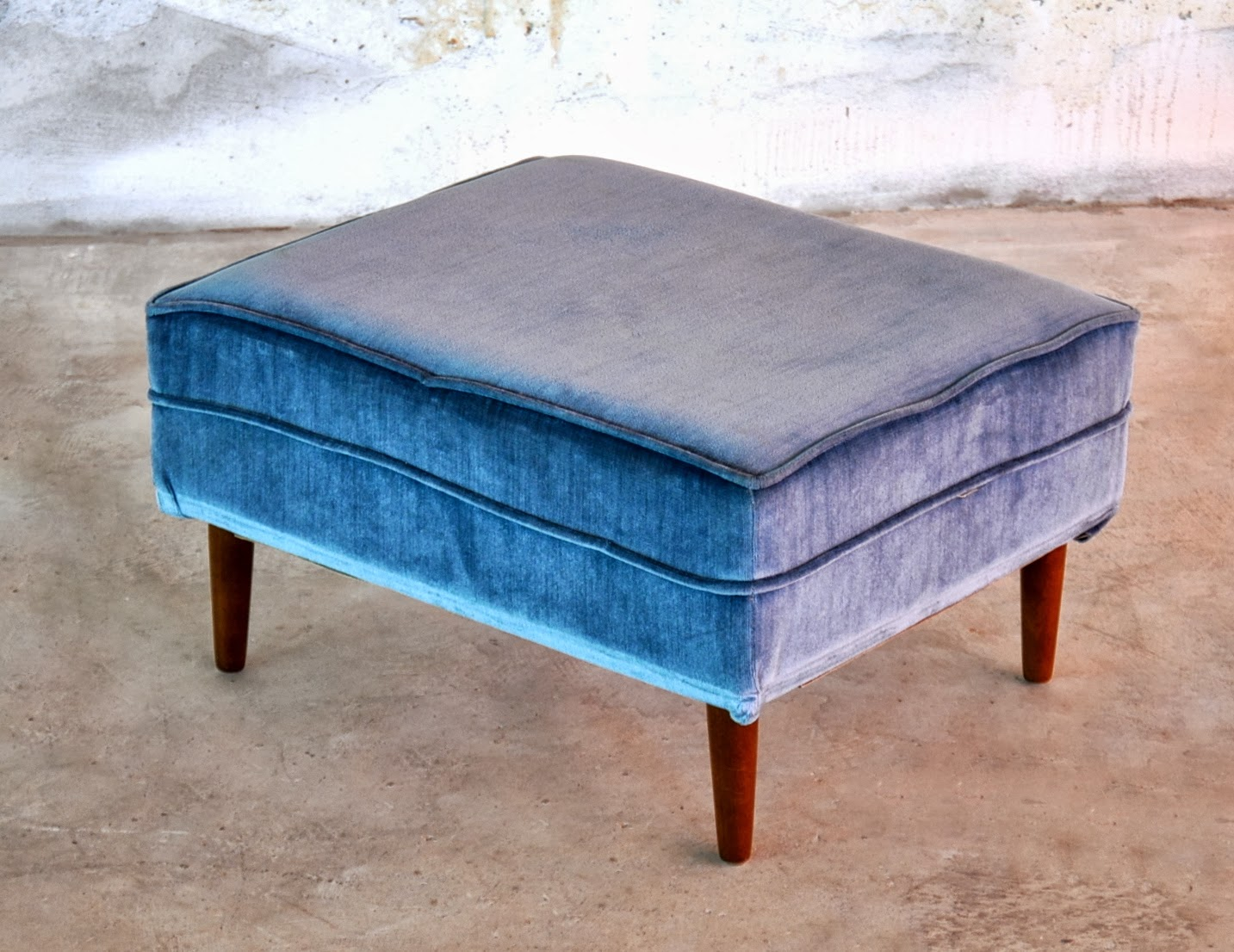 SELECT MODERN: Mid Century Modern Ottoman, Foot Stool or