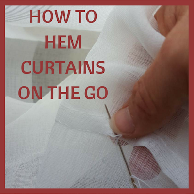 How to hem curtains on the go