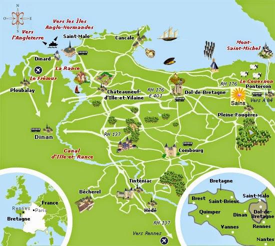Mapa de Ille y Vilaine.