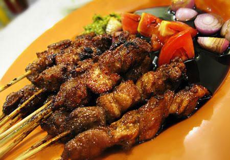 famoust indonesian Saté Goat dish.
