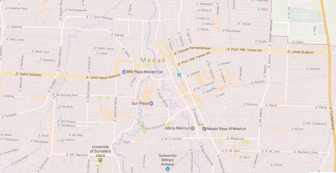 Gambar Peta Jalan Kota Medan Lengkap 21 Kecamatan
