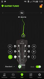 aplikasi tuning guitar tunio