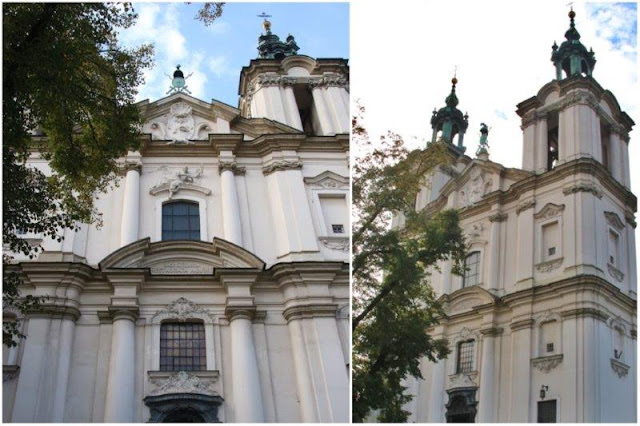 Basilica de los Santos Miguel Arcangel y Estanislado en Skalka en Kazimierz en Cracovia