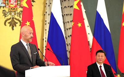 Chairman of the Russian side of the Russian-Chinese Committee of Friendship, Peace and Development and founder of the company Art Pictures Fyodor Bondarchuk at the meeting with representatives of public organizations, business and media communities of Russia and China.