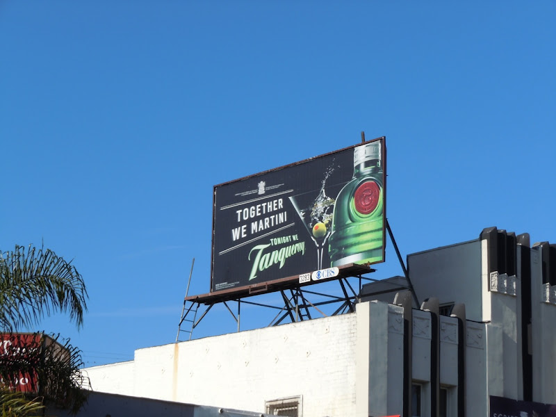 Together We Martini Tanqueray gin billboard