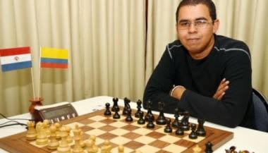 El granmense Neuris Delgado, con ELO 2618, defiende el primer tablero de Paraguay. (CHESSDOM)