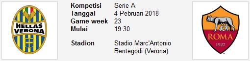 akan diprediksikan satu Match terbaik dari Seri A PREDIKSI BOLA Hellas Verona Vs AS Roma