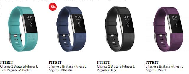 Cumpara de aici bratara fitness Fitbit Charge 2 L