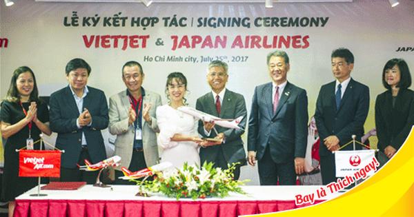 Japan Airlines và Vietjet chính thức ký kết chiến lược hợp tác toàn diện