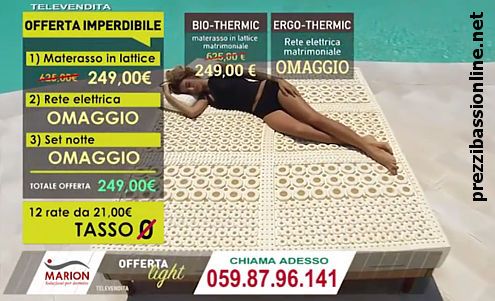 Prezzi Bassi Online: Marion bio thermic materasso offerta, opinioni