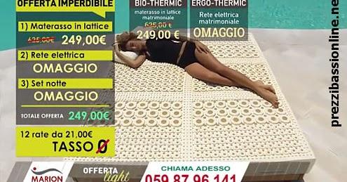 Materasso In Lattice Marion Recensioni.Prezzi Bassi Online Marion Bio Thermic Materasso Offerta Opinioni