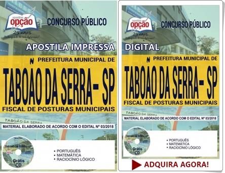 Apostila Fiscal de Posturas Municipais - Prefeitura de Taboão da Serra 2018
