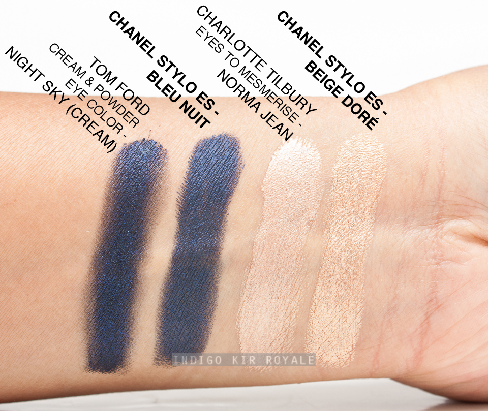 chanel stylo eyeshadows in beige dor 157 bleu nuit 207 indigo kir royale. Black Bedroom Furniture Sets. Home Design Ideas