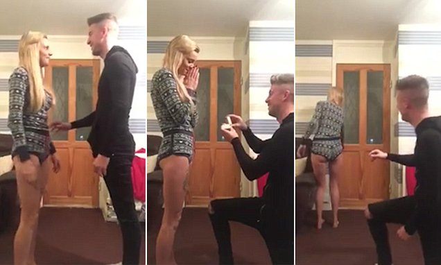 A Man Played A Fast One On His Girlfriend By Making Her Believe He Was Going To Propose In A Footage Seen Brad Holmes Told His Girlfriend Jenny Davies