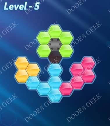 Block! Hexa Puzzle [5 Mania] Level 5 Solution, Cheats, Walkthrough for android, iphone, ipad, ipod