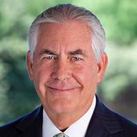 March 23—Rex Tillerson