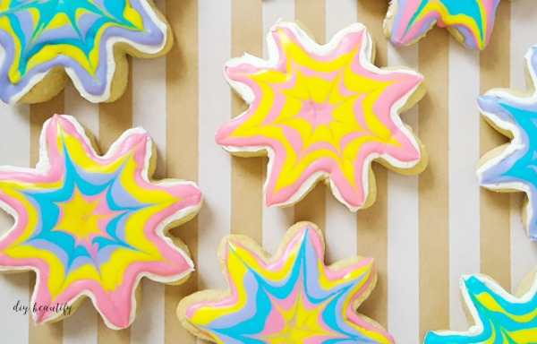 tie dye sugar cookie recipe and instructions