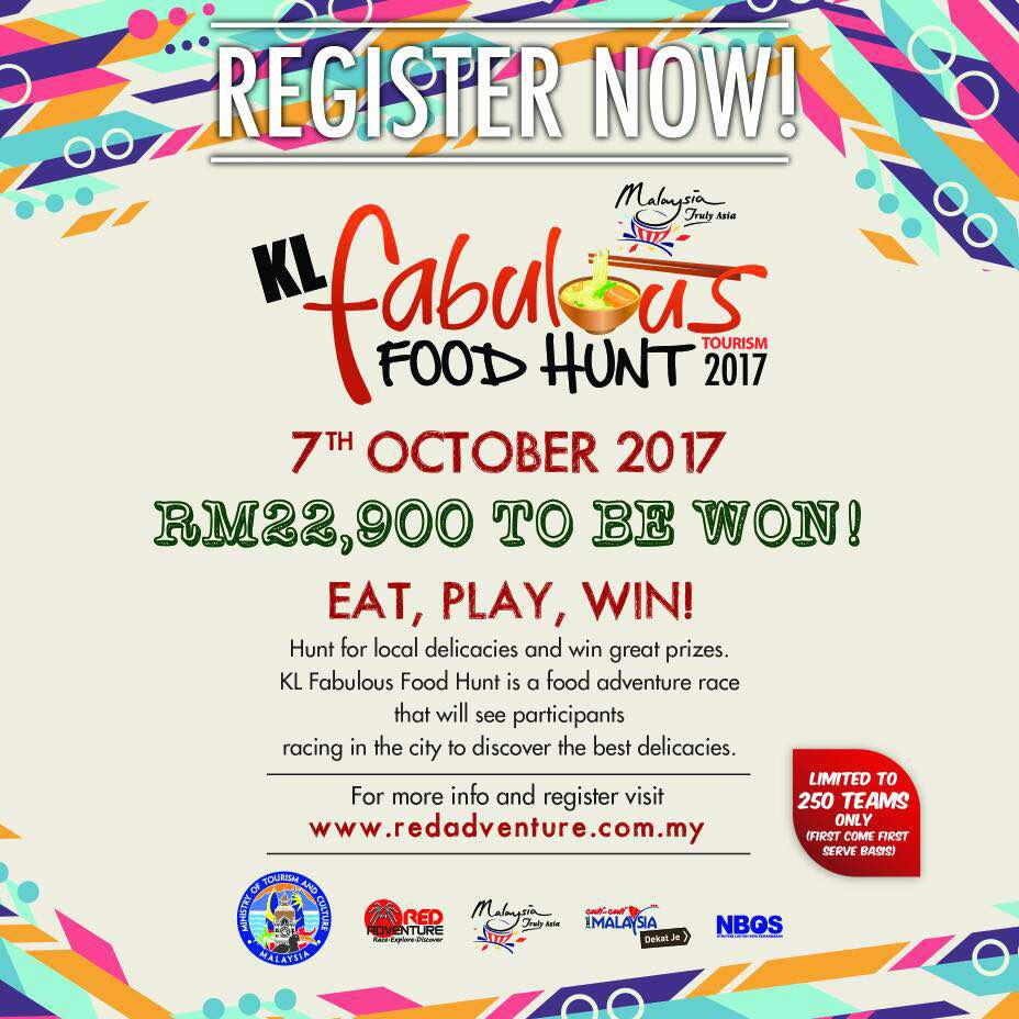 Kuala Lumpur Fabulous Food Hunt 2017, KLFFH 2017, Food Hunt, Kuala Lumpur, Ministry of Tourism and Culture Malaysia, MOTAC FT KL/Putrajaya, Kuala Lumpur Tourism Bureau, Rawlins GLAM,