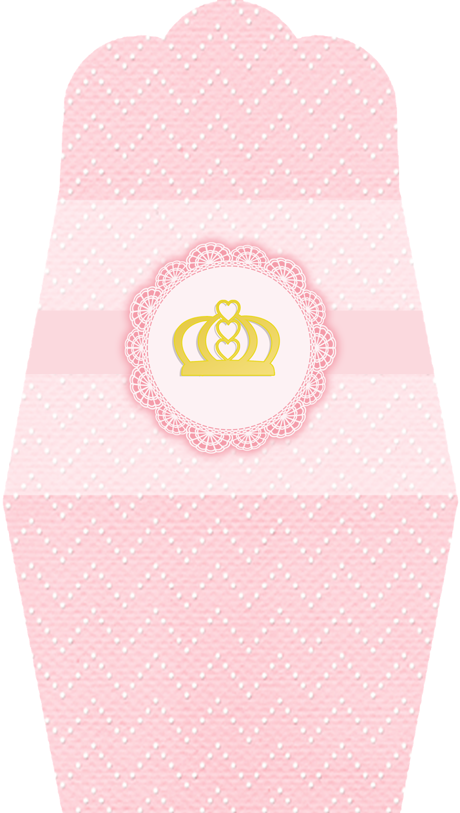 Golden Crown In Pink Free Printable Purse Invitations