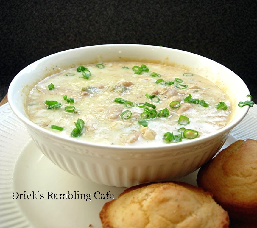 the Real-Deal White Chicken Chili recipe ~ Drick's Rambling Cafe
