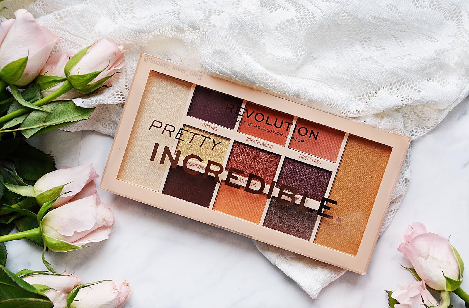 Paleta cieni Pretty Incredible od Makeup Revolution- swatche i pierwsze wrażenie