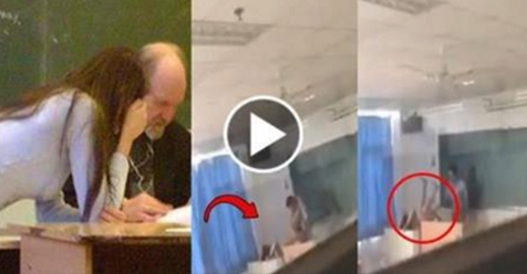 CAUGHT ON CAM: This College Professor Was Caught Having S*x With a Student in China! Shocking!