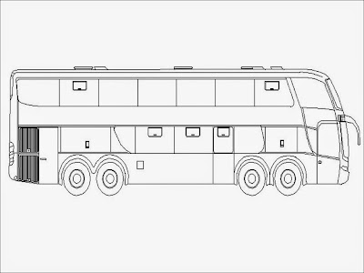 coloring pages of a bus