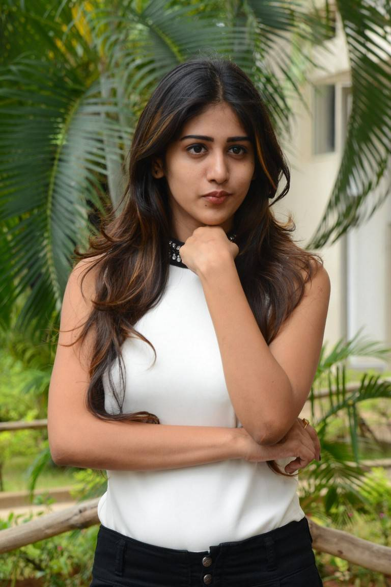 Chandini Chowdary Stills In White Dress