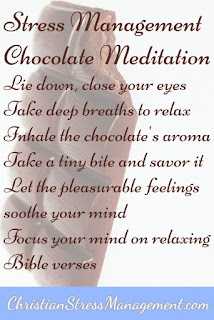 Stress management chocolate meditation