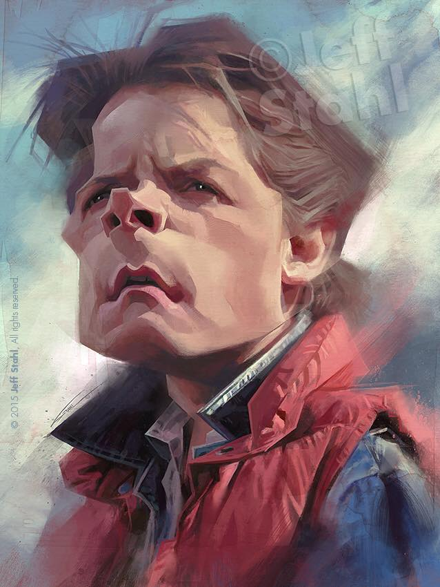 Michael J. Fox por Jeff Stahl