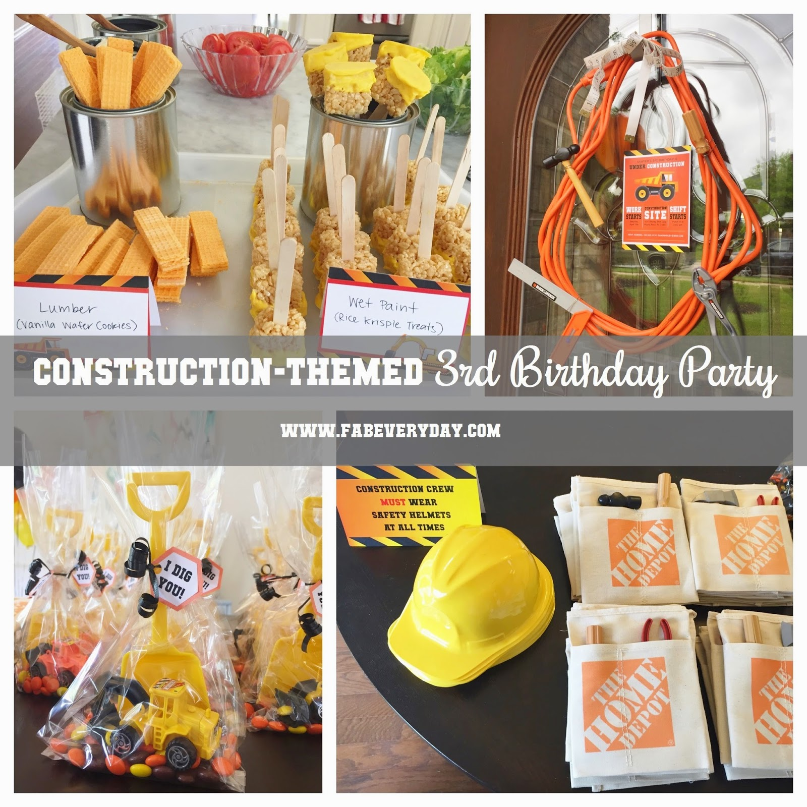 Construction Birthday Party Food Ideas: Because Everyday Life Should Be Fabulous