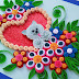 Quilling Greeting Card made with Teddy bear inside heart