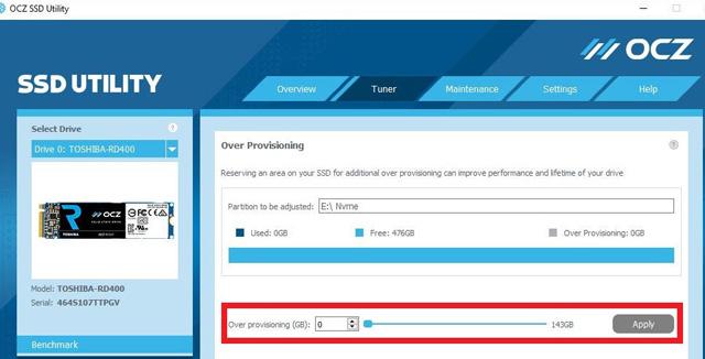 Como Otimizar o SSD overprovisioning